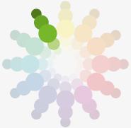 Barvy a jejich kombinace, monochromatická paleta