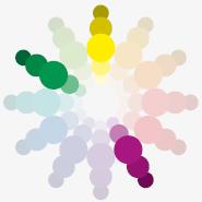 Barvy a jejich kombinace, rozdělená doplňková paleta